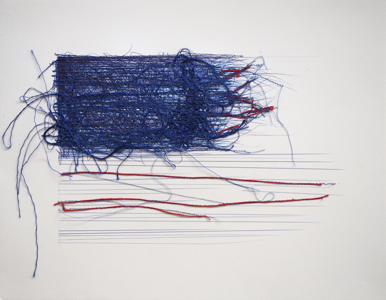 Barbara Klare, Shredded Flag
