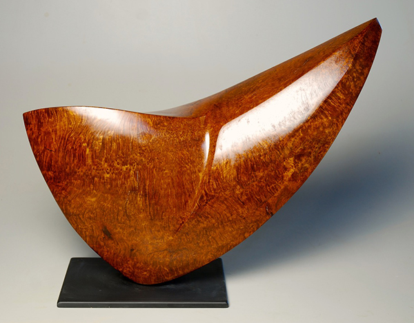 Curvaceous Angularity, redwood burl, 16h. x 25w. x 4.5d