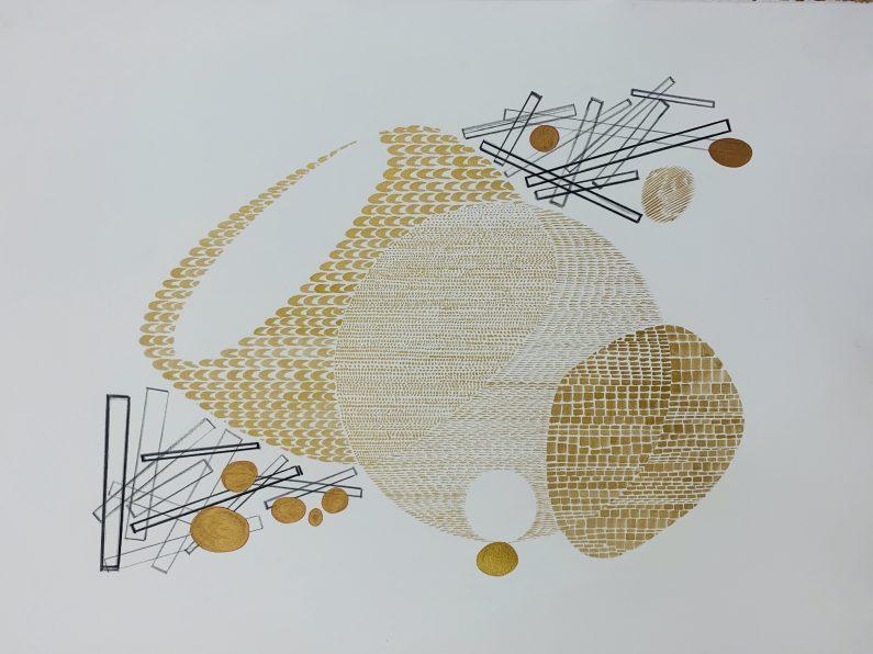 Austin_Buckingham_Gold Study1_Monotype_22x30