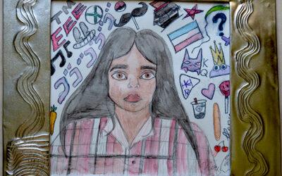 Self-Reflective Portraits by 8th Grade Grads