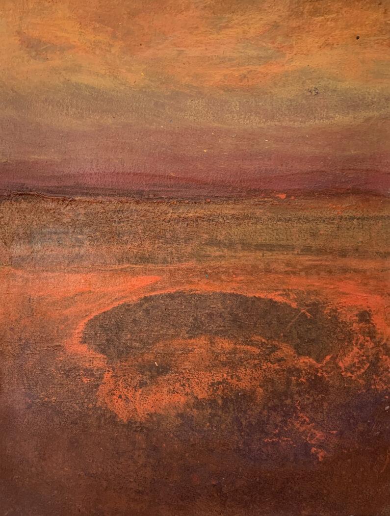 Ayumi Kie Weissbuch, Wildfires, Acrylic, 15 x 11