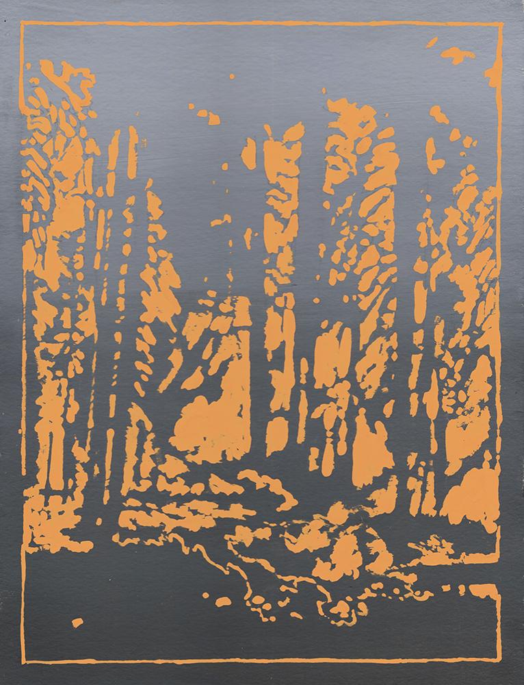 Daniel Crowe, Fire in the Hills, Gouache