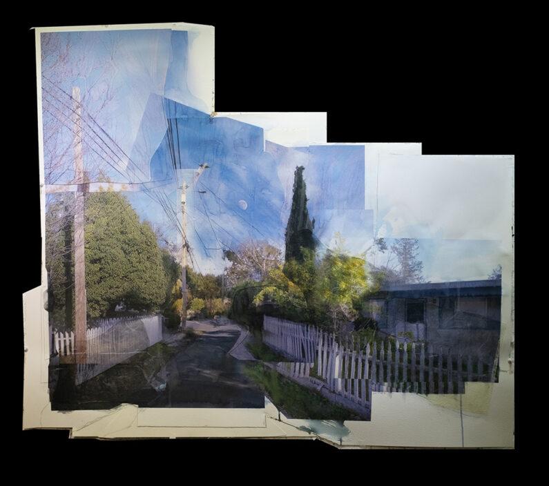 Michael Acker, Lemon Central, Inkjet Watercolor Acrylic, 32 x 38 ins