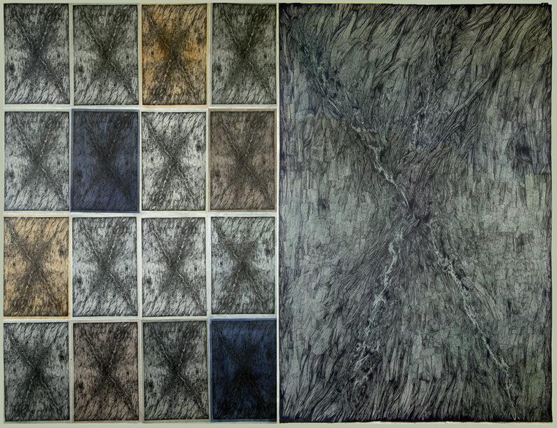 Morvitz-Crossing_Carson_Pass-graphite, ink, watercolor, digital printson paper