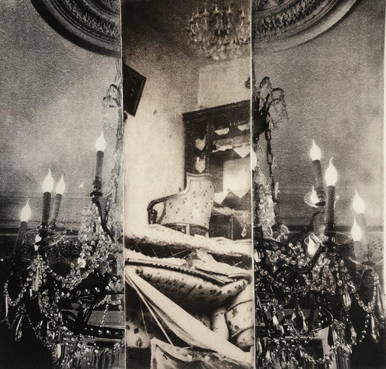 Nancy Willis_Syria_Dangling, Fawn Brrown, Monoprint