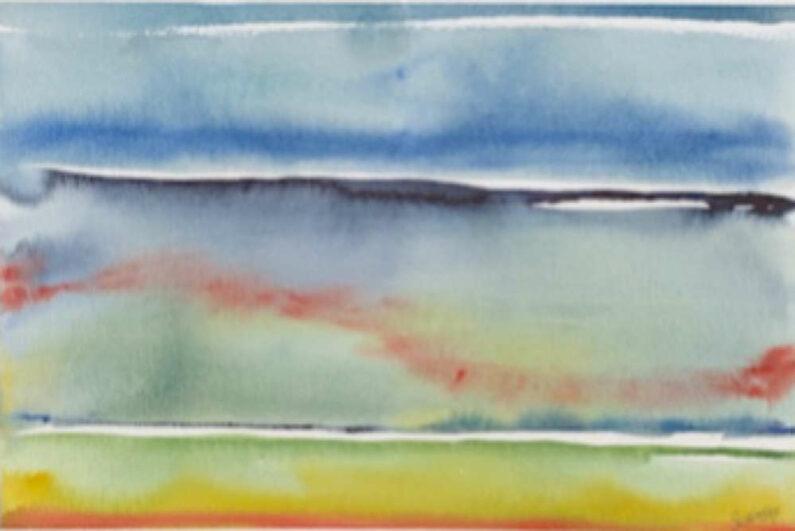 Bernie Schimbke - Kilauea - Watercolor, 12in H x 16in W x 1in D