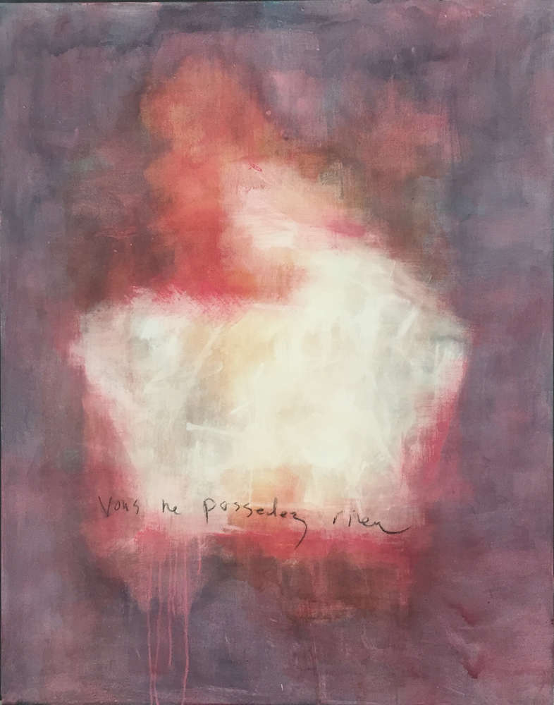 Jenny-Lynn Hall - Vous Ne Possedez Rien - Mixed Media On Canvas, 56in H x 44in W x 1in D