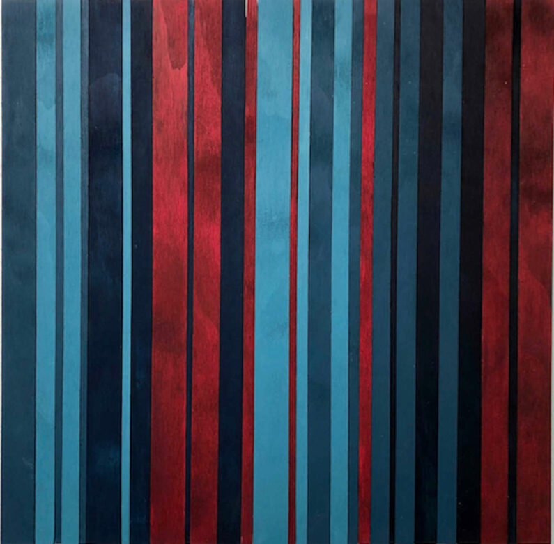 Steve Hurwitz - How I Feel Right Now - Water Polychromed Plywood, 20in H x 20in W x 1in D