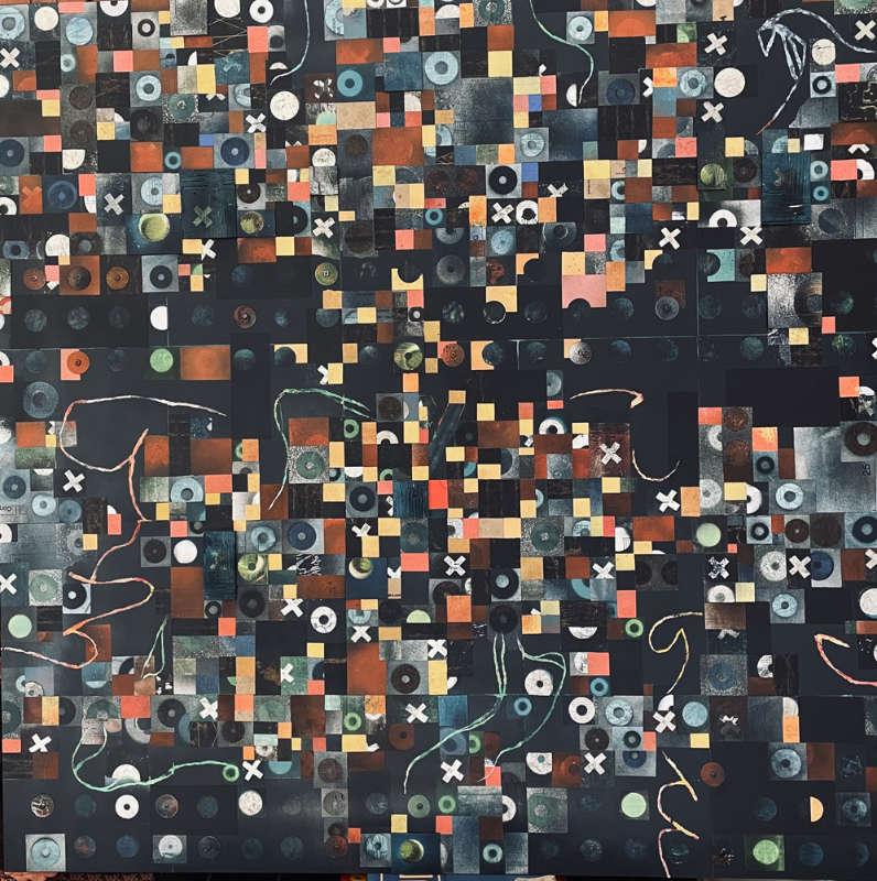 Will Thoms - Sleight Of Hand - Mixed Media On Pane, _48in H x 48in W x 2in D