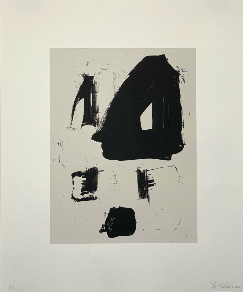 Betsy Kellas - Untitled - Two Color Screen Print on BFK Rives, 24inx20in