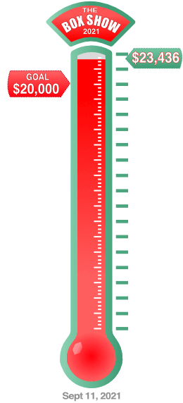 Fundraiser total so far thermometer graphic